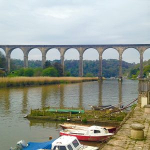 View of the Calstock viaduct, Tamar Valley