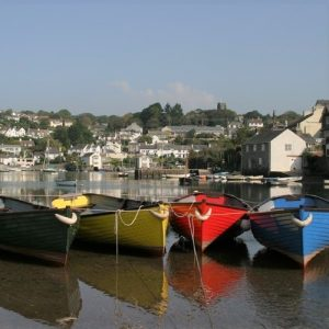 Rowing boats on the Yealm